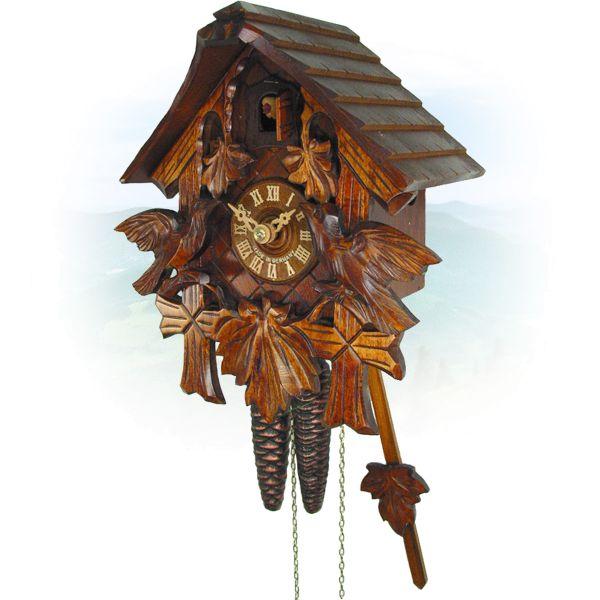 Kuckucksuhr Winnipeg, August Schwer: Haus, 3-Laub, Vögel