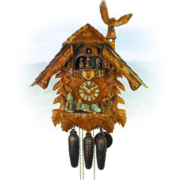 Kuckucksuhr Marseille, August Schwer: Haus, Adler, Jäger
