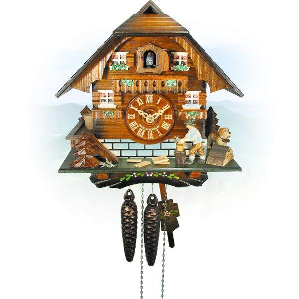Kuckucksuhr Vaughan, August Schwer: Holzhackerhaus