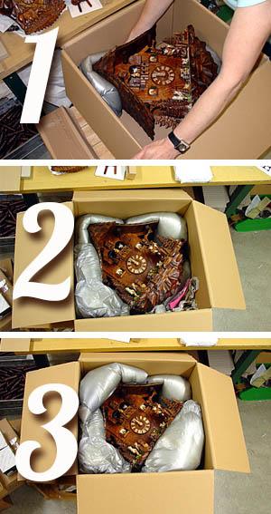 Sichere Verpackung Ihrer Kuckucksuhr
