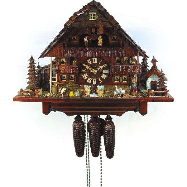Kuckucksuhr England, August Schwer: Altes Bauernhaus