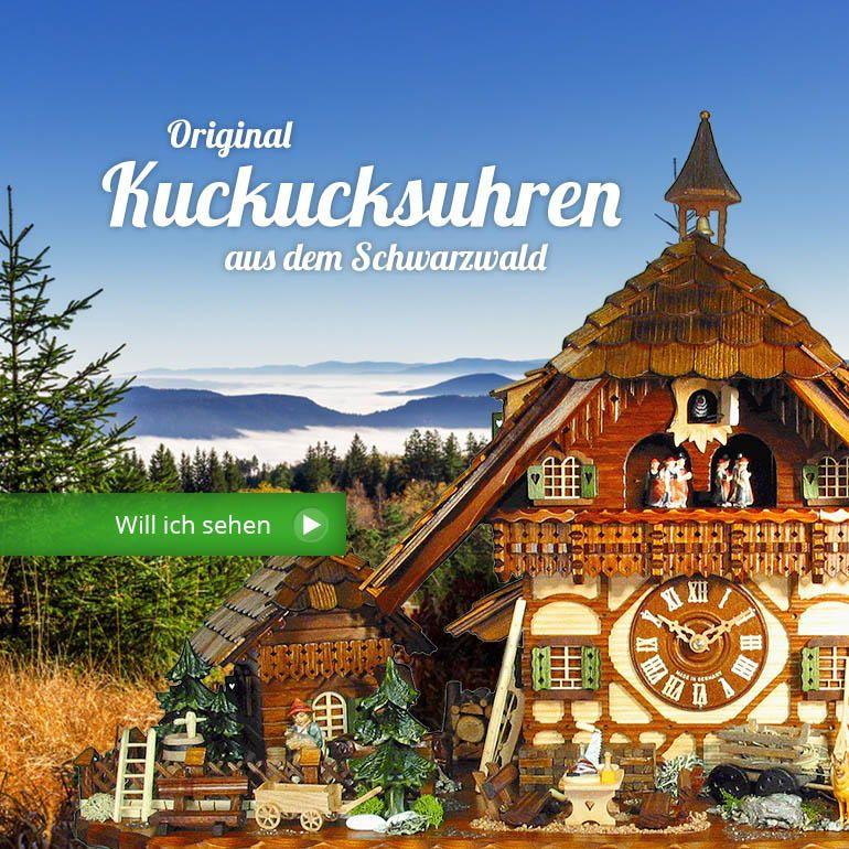 Kuckucksuhren aus dem Schwarzwald online kaufen | deine-kuckucksuhr.de