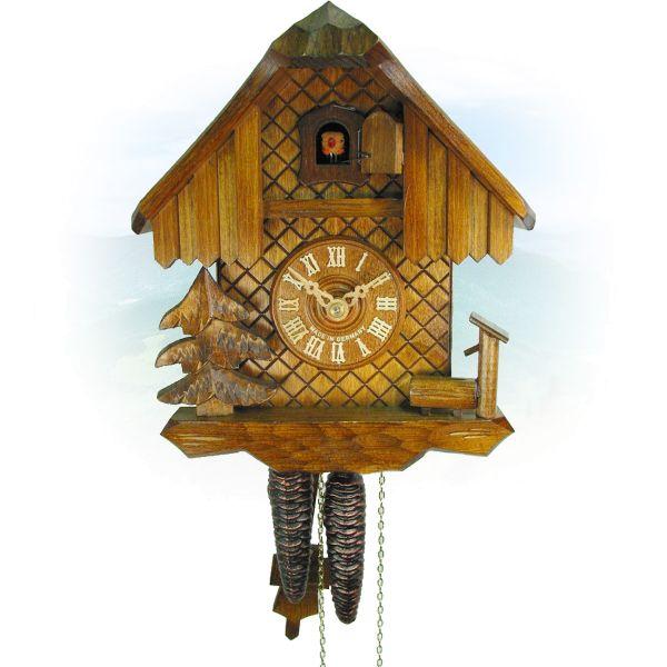 Kuckucksuhr Edmonton, August Schwer: Haus, Trog, Baum