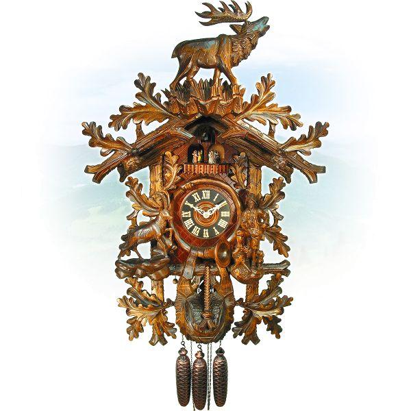 Kuckucksuhr Firenze, August Schwer: Jäger, Gams, Hirsch
