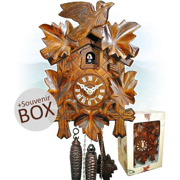 August Schwer Kuckucksuhr Geschenk in Souvenir Box